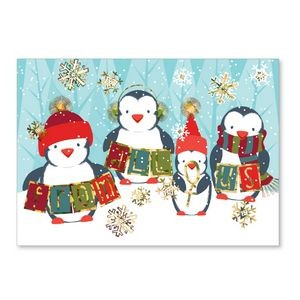 Penguin Thank You Holiday Greeting Card