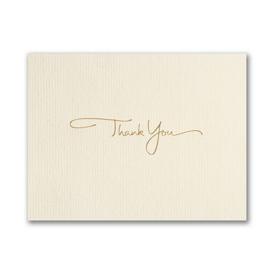 Golden Thank You Greeting Card