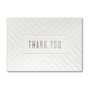 Thank You Lines Thank You Greeting Card