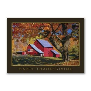 Patriotic Thanks Thanksgiving Card